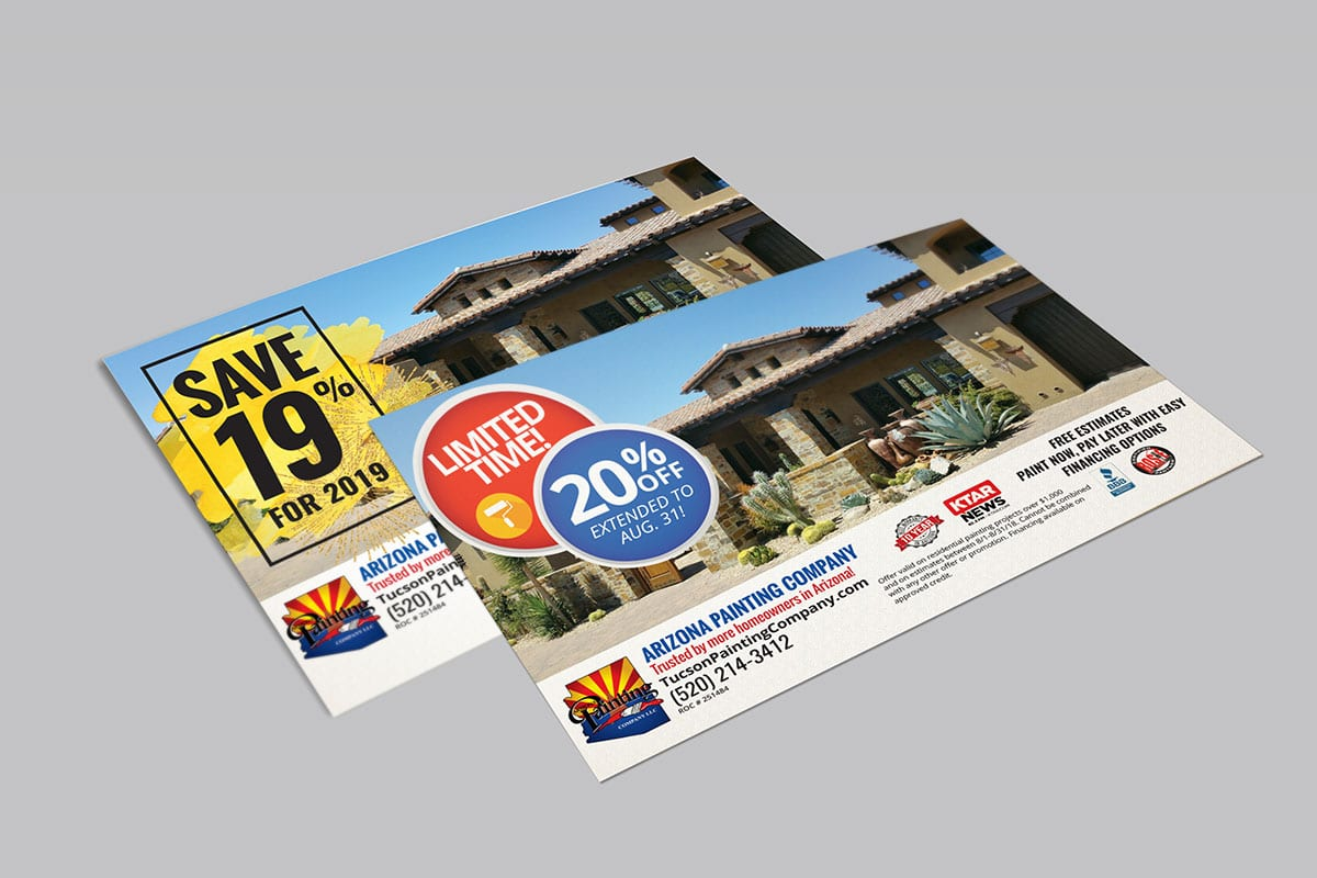 Direct Mail | Arizona Painting Company | Case Studies | Big Marlin Group