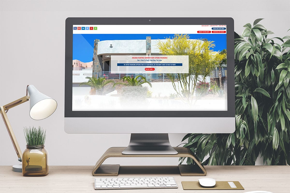 Responsive Web Development | Arizona Painting Company | Case Studies | Big Marlin Group