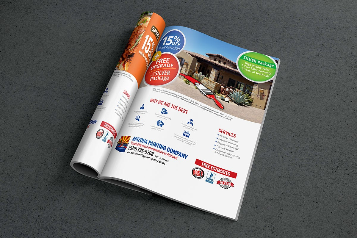 Graphic Design Services | Arizona Painting Company | Case Studies | Big Marlin Group