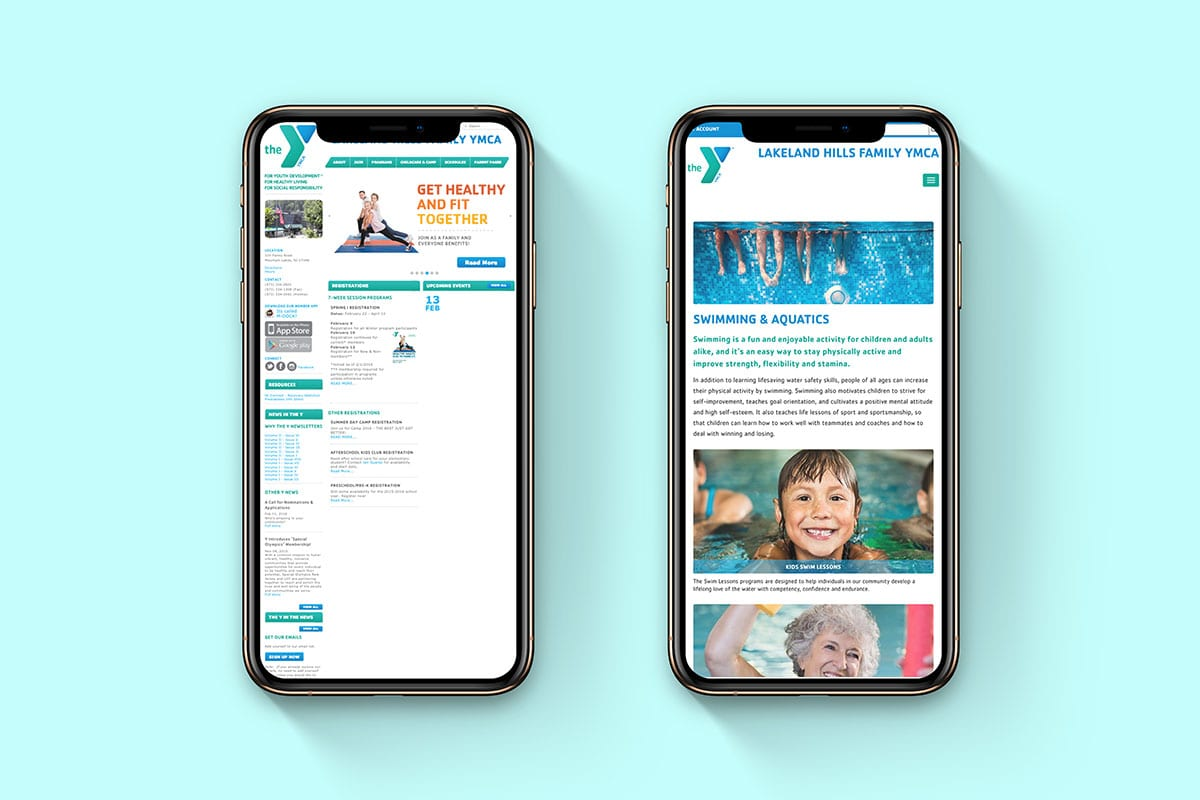 Improved Search Ranking | Mobile Development | Lakeland Hills Family YMCA | Big Marlin Group